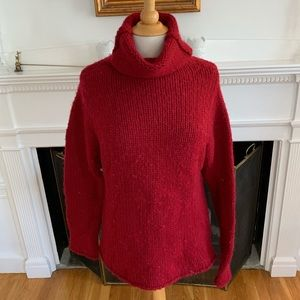 GAP soft cushy thick funnel neck sweater